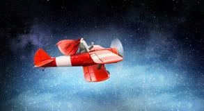 以后的圣诞老人 混合画法 免版税库存图片