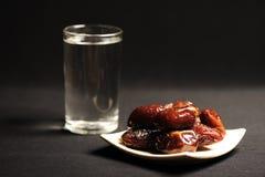 以后的ramadan水 免版税库存图片