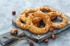 以圆环的形式一种油脂含量较高的酥饼 免版税库存图片