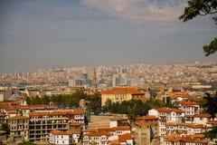 以城市为目的风景 土耳其的首都的全景 安卡拉,土耳其 免版税库存照片