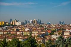 以城市为目的风景 土耳其的首都的摩天大楼的全景 安卡拉,土耳其 免版税库存图片