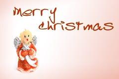 以天使的形式圣诞节蜡烛 库存照片