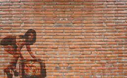 以妇女为特色的墙壁街道画 免版税库存照片