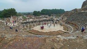 以弗所圆形露天剧场古希腊城市在塞尔丘克,伊兹密尔省土耳其 影视素材