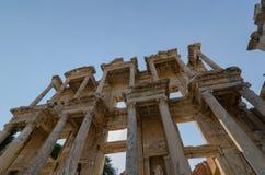 以弗所EFES ARCHEOLOGÄ°CAL SÄ°TE,土耳其这Celsus图书馆 免版税库存图片