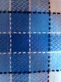 以方格的桌布的形式纹理 库存照片