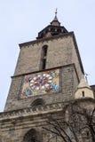 以暗色,建立在哥特式样式和命名的黑人教会的片段在17世纪的火以后留下我 免版税库存图片