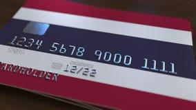 以泰国的旗子为特色的塑料银行卡 3d翻译 库存图片