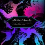 以海波浪的形式抽象背景在黑背景的淡紫色蓝色设计的 免版税库存图片
