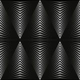 以灰色菱形的形式抽象背景在黑色 向量例证