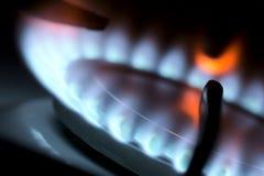 以煤气为燃料的火炉。 免版税库存图片