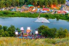 以瓦列里命名的作者` s歌曲的全俄罗斯节日格鲁申 免版税库存图片
