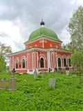 以纪念了不起的受难者乔治的寺庙战胜1885 雷宾斯克,雅罗斯拉夫尔市地区 库存图片