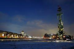 以纪念俄国海军的300th周年的纪念碑 免版税库存图片