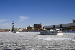 以纪念俄国海军的300th周年的纪念碑 库存图片