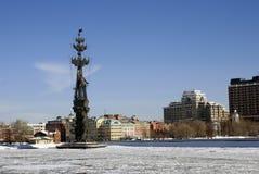 以纪念俄国海军的300th周年的纪念碑 库存照片