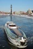 以纪念俄国海军的300th周年的纪念碑 免版税库存照片
