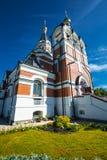 以纪念俄罗斯的新的受难者和忏悔者的教会 的treadled 库存图片