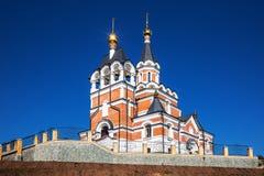 以纪念俄罗斯的新的受难者和忏悔者的教会 的treadled 免版税库存图片