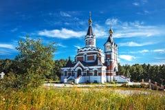 以纪念俄罗斯的新的受难者和忏悔者的教会 的treadled 库存照片