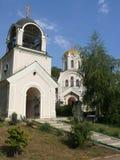 以纪念圣亚历山大・涅夫斯基的寺庙在顿涅茨克  免版税图库摄影