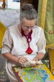 以纪念圣徒Istvn的传统民间市场和第一面包在有民间大师的匈牙利 布达佩斯匈牙利 库存图片