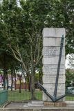 以纪念失去的海员的战争纪念建筑,都伯林爱尔兰 库存照片