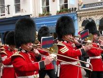以纪念女王/王后的军事游行在温莎 库存照片