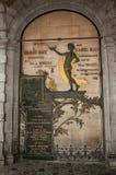 以纪念老个性的古铜在香港大会堂在布鲁塞尔 免版税库存照片