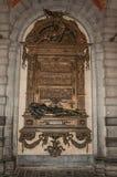 以纪念老个性的古铜在香港大会堂在布鲁塞尔 库存照片