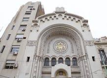 以色列人阿根廷会众的犹太教堂在布宜诺斯艾利斯,阿根廷 库存图片
