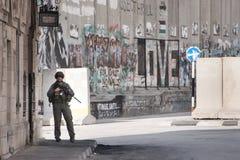 以色列军事占领在伯利恒 免版税库存照片