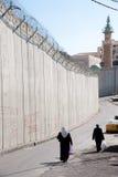 以色列分隔墙壁 图库摄影
