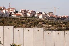 以色列分隔结算墙壁 免版税库存照片