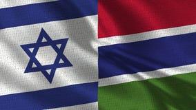 以色列和冈比亚旗子-一起两面旗子 库存照片