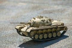 以色列坦克M-48比例模型在地面上的 免版税库存图片