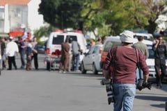 以色列导弹打击 免版税库存照片