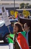 以色列巴勒斯坦人抗议 免版税库存图片