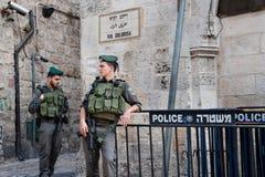 以色列战士在耶路撒冷 免版税库存图片