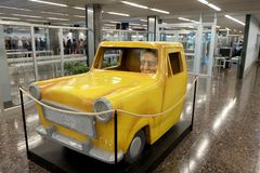 以色列本驾驶a的古理安的第一位总统的雕塑 免版税库存照片