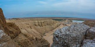 以色列沙漠 Qumran国家公园 免版税库存照片