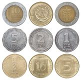 以色列硬币全套  免版税库存照片