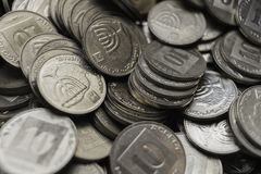 以色列硬币墙纸 免版税库存照片