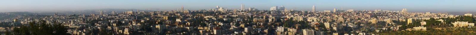 以色列耶路撒冷全景 免版税库存图片