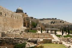 以色列耶路撒冷废墟 免版税库存照片