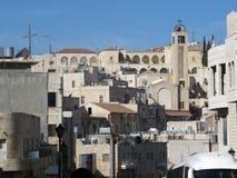 以色列耶路撒冷 居民住房看法在市中心 免版税库存照片