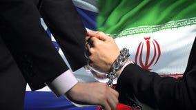 以色列认可伊朗,被束缚的胳膊,政治或者经济冲突,商业禁令 股票录像