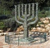 以色列议会menorah s 图库摄影