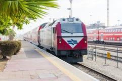以色列铁路的铁路联轨点位于Lod的 免版税库存照片