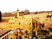 以色列,耶路撒冷,中东,阿克萨清真寺,被建立的结构, 免版税库存图片